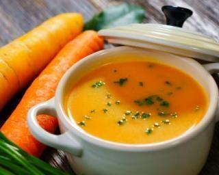 Soupe de carottes à l'aneth