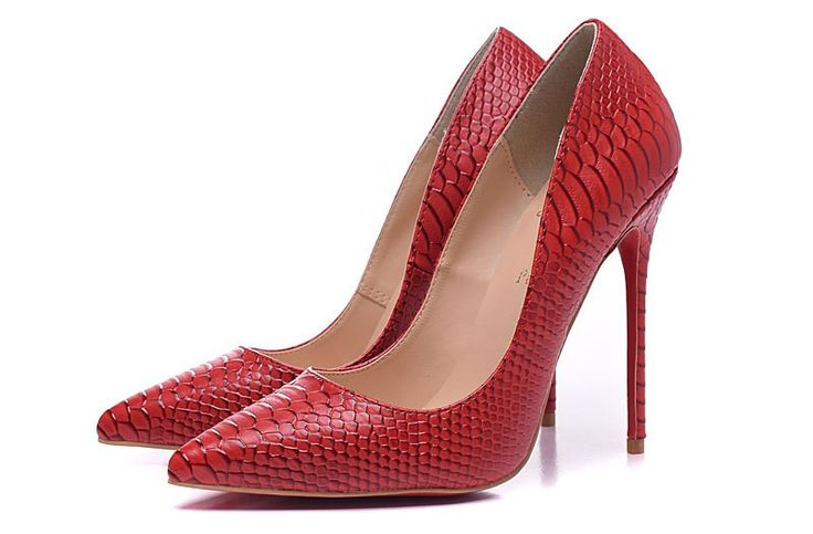 2015 Escarpins Christian Louboutin Femme So Kate Python 100mm chaussures rouges 100,00 €