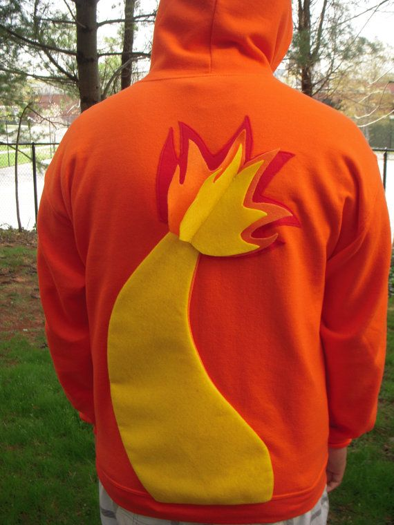 CHARMANDER Pokemon inspired hoodie for ADULTS by CuteKutz on Etsy, $62.00