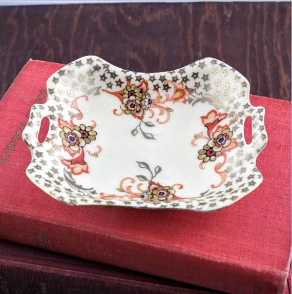Vintage Royal RS Silesia Trinket Dish  Porcelain by LoAndCoVintage
