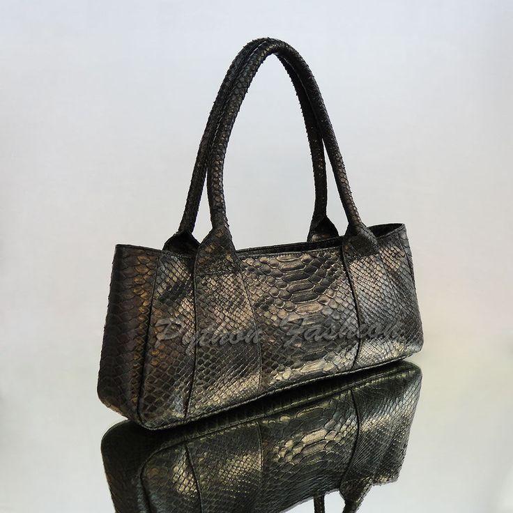 Купить Классическая сумочка из питона EVESTA - кожа питона, из питона, из кожи питона