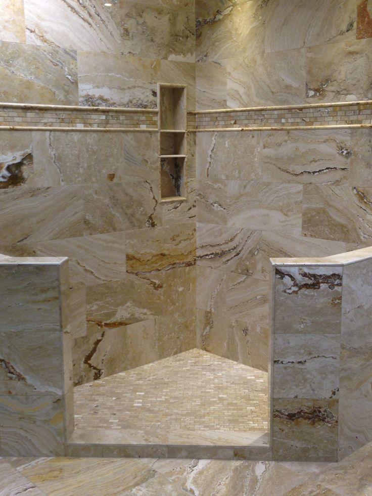 Leonardo Polished Travertine | Shower Displays | Pinterest