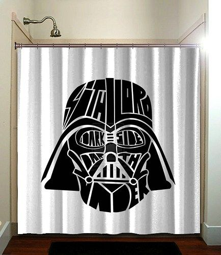 Star Wars Darth Vader Printed Bathroom Shower Curtain Large
