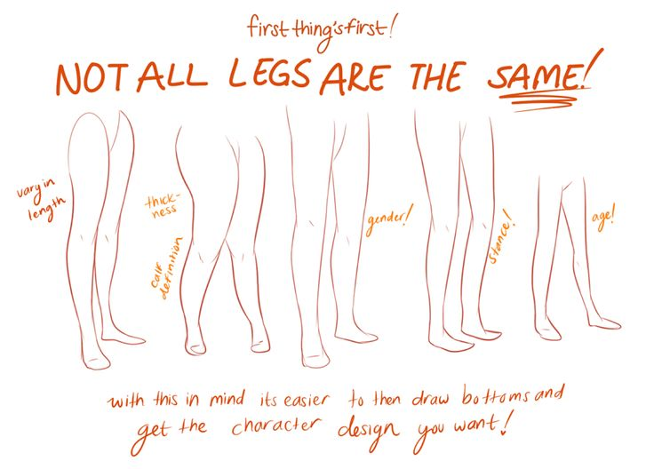 Art Tutorials ✤ || CHARACTER DESIGN REFERENCES | #LEGS