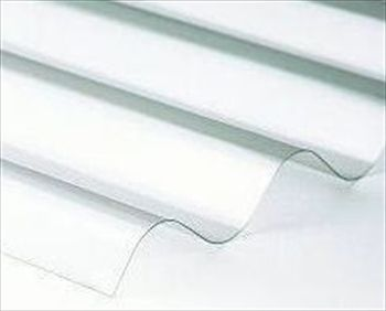 Corrugated PVC roofing sheets. An alternative option to the flat Twinwall solution.