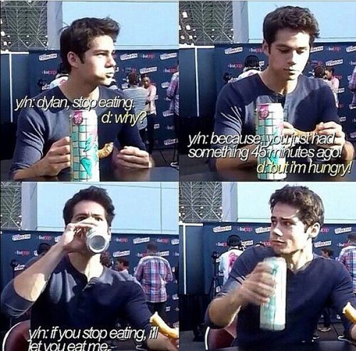 "Dylan O'Brien | his face in the last one omg "" wth you are nasty """