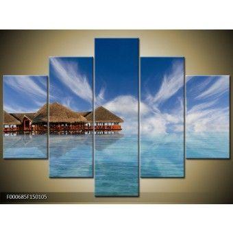 Bora Bora vászonkép 150 x 105 cm 5 részes