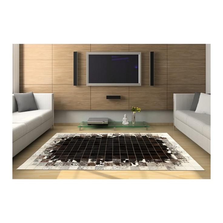 patchwork cowhide rug k-1783 mosaik black-brown-white ORDER HERE: http://www.furhome.gr/shop/en/patchwork-cowhide-rug-k1783-188.html