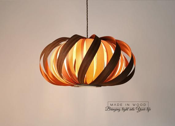 Ceiling Light Modern Natural Wood Veneer Exclusive Lamp Pendent Lampshade Lighting Patio Light Hanging Light From Sapele And Ash Beleuchtung Decke Holzpendelleuchte Und Lampen