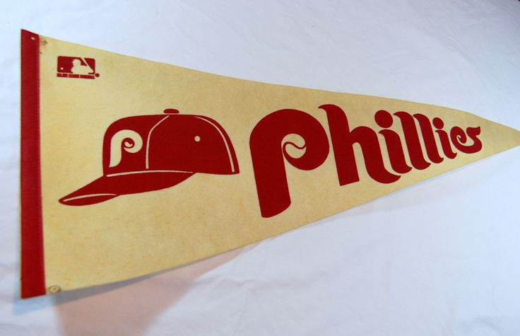 Vintage Phillies Full Size Baseball Pennant, Philadelphia Phillies, MLB Collectible, Vintage Baseball Pennant by RearViewRetro on Etsy