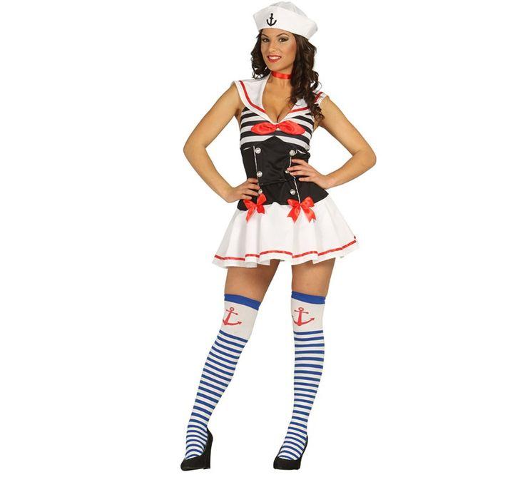#Disfraz de #Marinerita# Sexy para Mujer. Disfraz de  #Marina, #Marinera o #Grumete