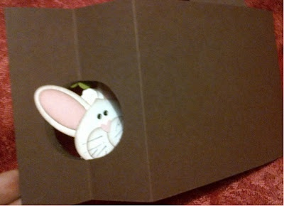 not sure I follow how this one works, but looks super cuteCrafts Ideas, Bunnies Cards, Cards Ideas, Easter Cards, Cards East, Wiper Cards, Punch Cards, Diy Cards, Easter Ideas