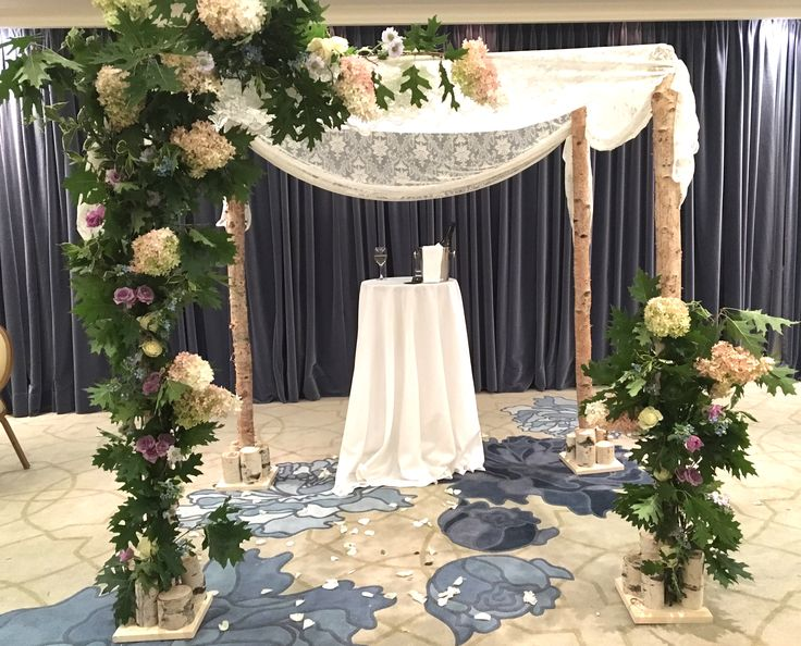 Lace over birch by www.chuppah.ca @The Ritz-Carlton Montreal