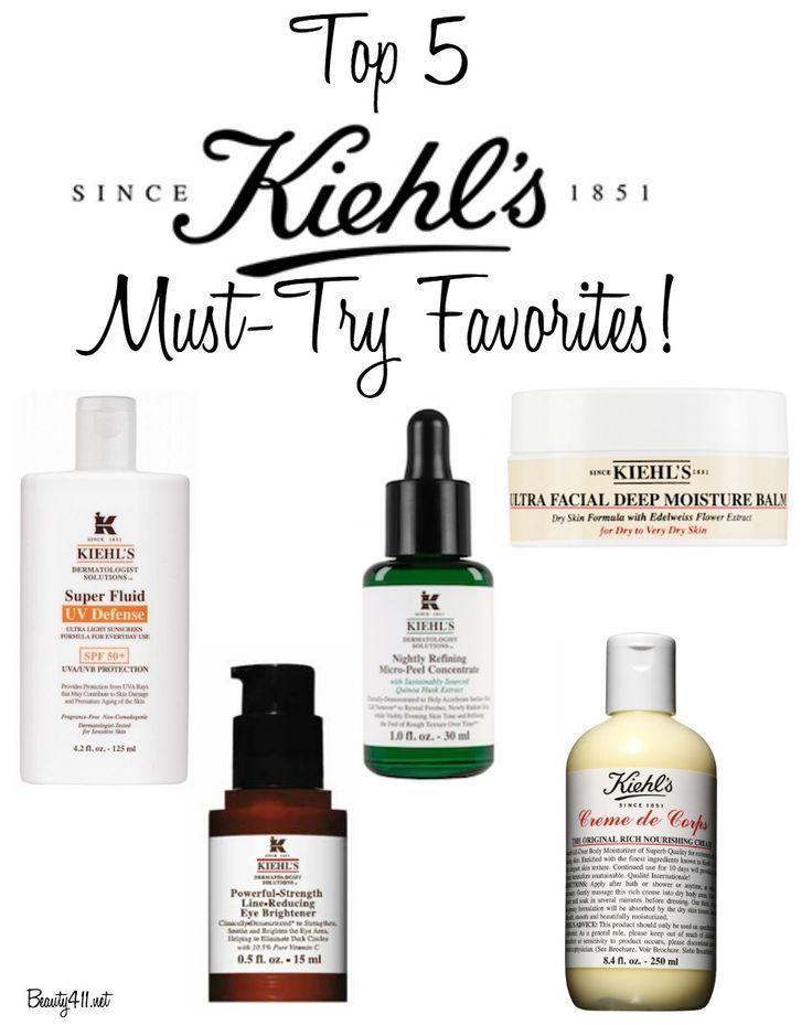 Top 5 Kiehl S Favorites Skin Care Beauty Skin Care Kiehls Skincare