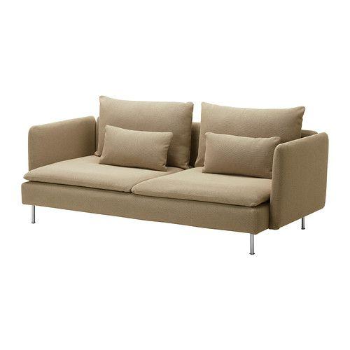 SÖDERHAMN Three-seat sofa - Replösa beige - IKEA