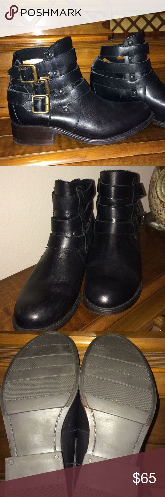 Ladies Gabriella Richard Manila 1 Black Leather NWOT, never worn. Black leather ankle boots. Gabriella Rocha Shoes Ankle Boots & Booties