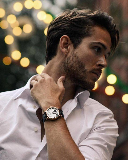 Watch + button up hell yea