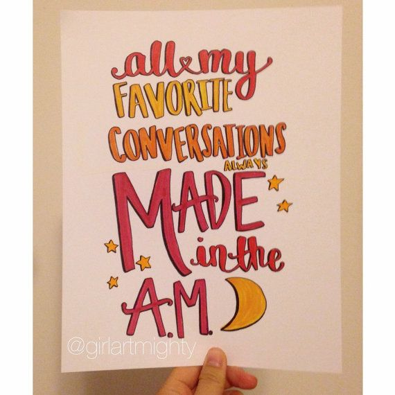 A.M One Direction Lyrics by GirlArtmighty on Etsy