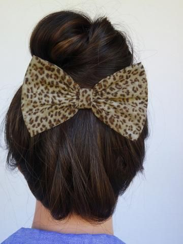 Cheetah Hair Bow Clip Cheetah bow Clip Cheetah Bow Animal Print Bow Brown Hair Bow Brown Bow Cute Birthday Party Favors Bow Halloween Bow by MyPrettyHairBow for $4.99