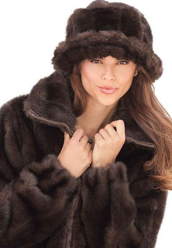 Brown Faux Fur Coats For Womens