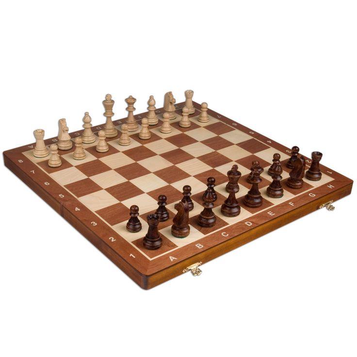Tournament No. 6 Staunton Chess Set 20.75 x 20.30 Wood