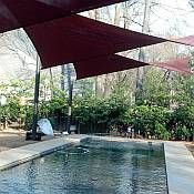 25 best ideas about sun shade sails on pinterest sail shade sun awnings and patio shade sails for Royal swimming pools memphis tn