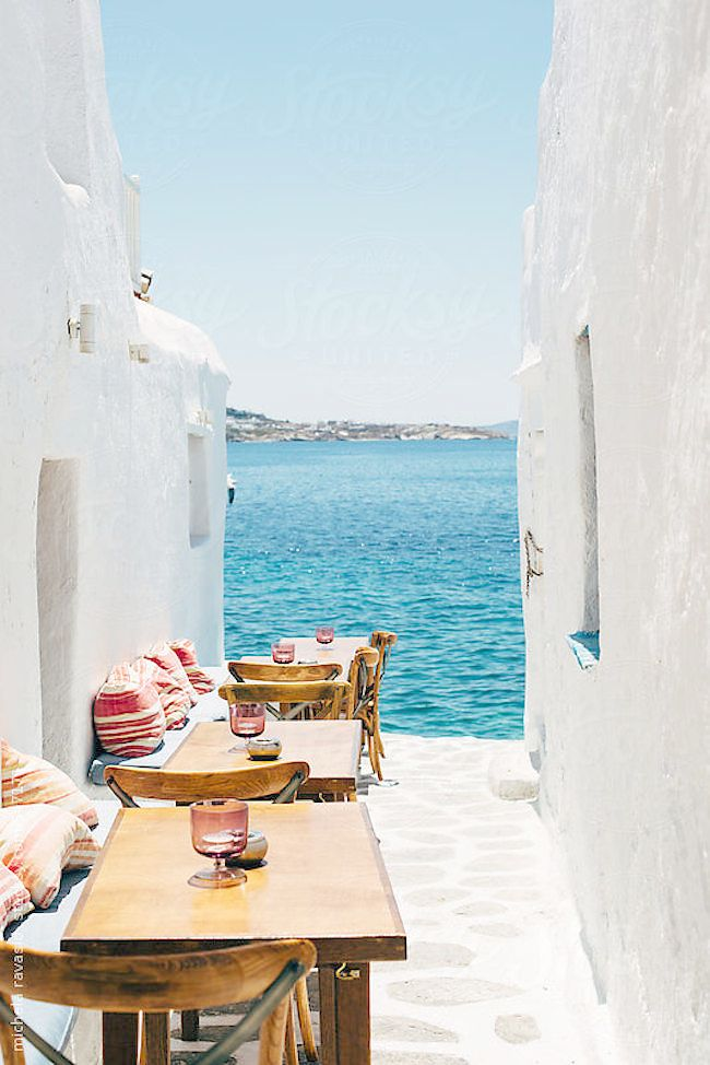Mykonos, Greece // In need of a detox? Get 10% off your @SkinnyMeTea 'teatox' using our discount code 'Pinterest10' at skinnymetea.com.au