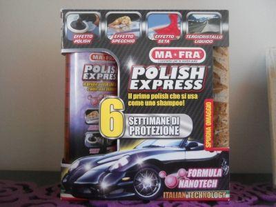 """Oggi vi vorrei Parlare di un prodotto """"Polish Express"""",che mi è stato inviato dalla Ma-Fra. Per chi non lo sapesse la MA-FRA è unaazienda italiana leader assoluta nel settore della pulizia e manutenzione delle auto, moto e imbarcazioni. La chiave di questo successo?"""