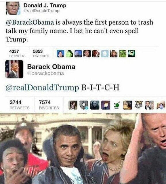 OK what's funny about this is I knew immediately it was fake, Obama would Never do this, but if Trump ever thought of burn so hot he'd break his fingers tweeting.