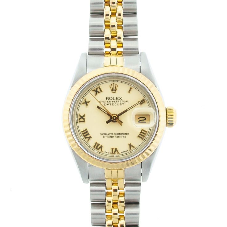Used Pre-owned Rolex Women's Datejust Off-white Roman Dial Watch