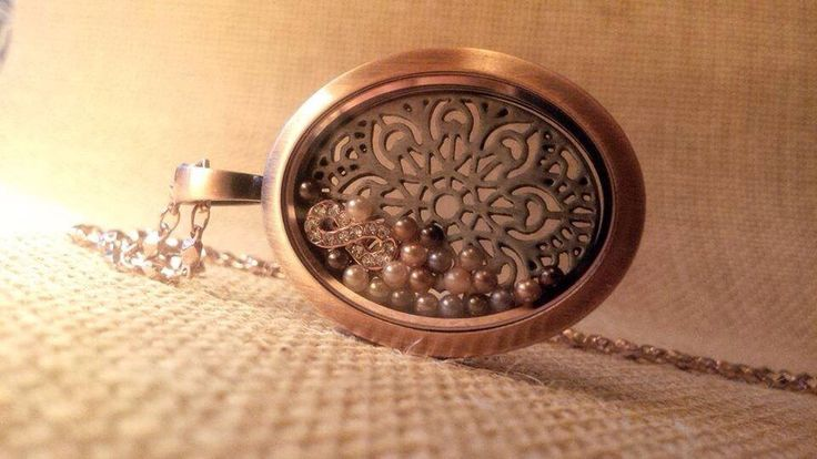 South Hill Designs Rose Gold Matter Locket with Infinite Charms and pearls