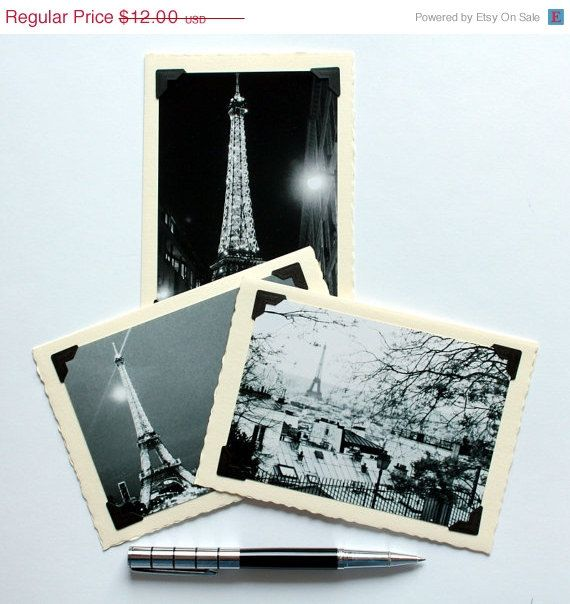 ON SALE set of 3 greeting cards Paris photography blank cards with envelopes Eiffel Tower greeting cards greeting card set photocards https://www.etsy.com/shop/AnnaKiperPhoto