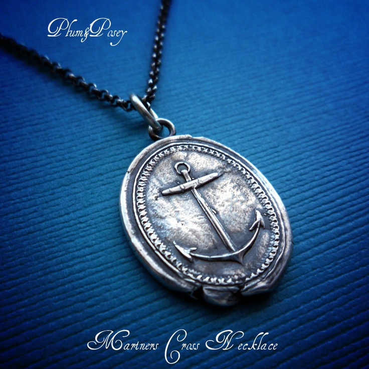 54 best mens anchor jewelry images on pinterest jewerly anchor necklace mariners cross anchor wax seal necklace meaning hope 12000 via etsy aloadofball Gallery