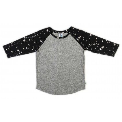 Basic Raglan - Dark Paint Print/ Grey Marle