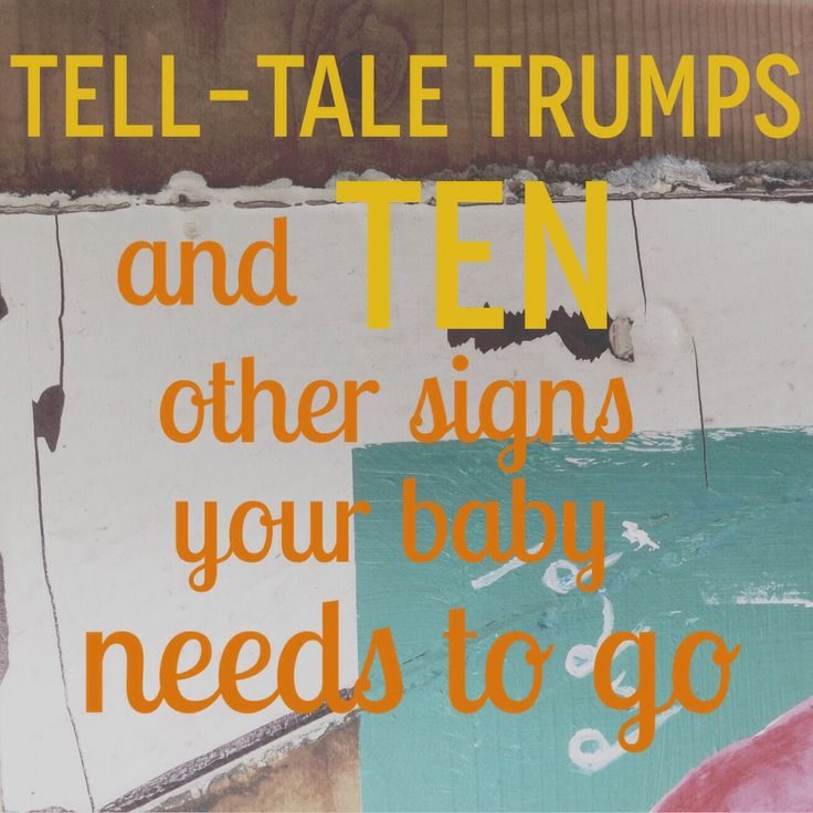 Tell-tale Trumps and Ten other signs your baby needs to go | Lulastic and the hippyshake
