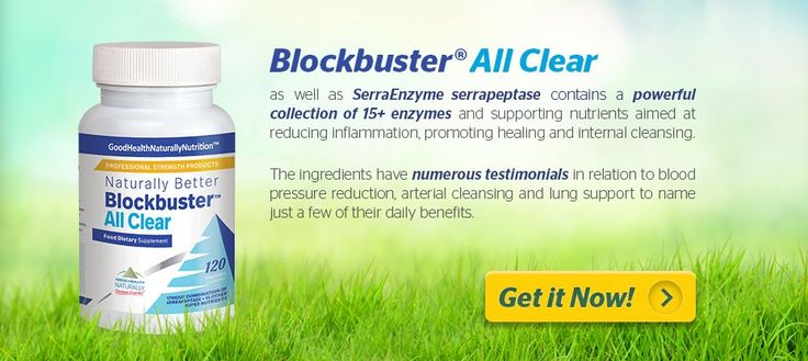 Blockbuster All Clear with #Serrapeptase, #Nattokinase & other enzymes to support healthy lungs and cardio-vascular system. Reduces inflammation, promoting healing and internal cleansing. Buy 3 and get 1 free! Free shipping over $55(USA) $50 (Canada) AU$69 (Australia) #lunghealth #hearthealth