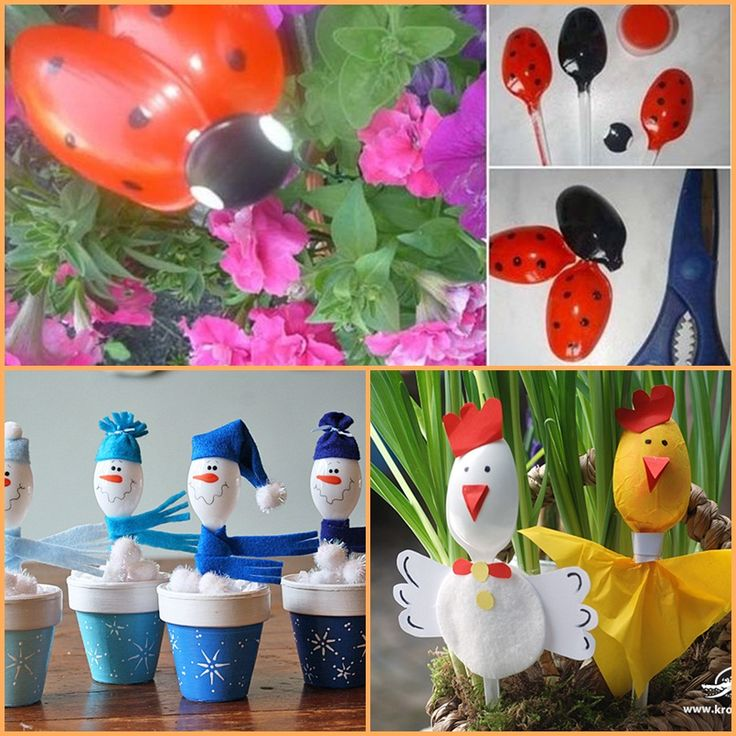 recycled plastic spoons into decors