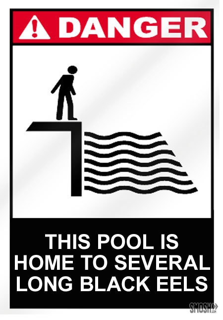the art of crafting pool signs has really declined - Pool Signs
