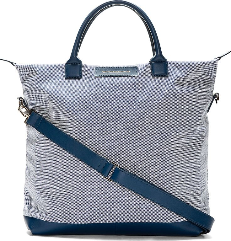 Want Les Essentials de la Vie - Baltic leather and canvas tote.