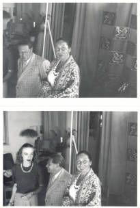 Lion Feuchtwanger and wife Marta in painter Ernest van Leyden's Los Angeles Studio, 1945 :: Lion Feuchtwanger Papers, 1884-1958
