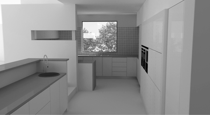 Dalkeith Kitchen Interior Renovation Illustration by Nikki May in Perth  www.evoillustration.tumblr.com