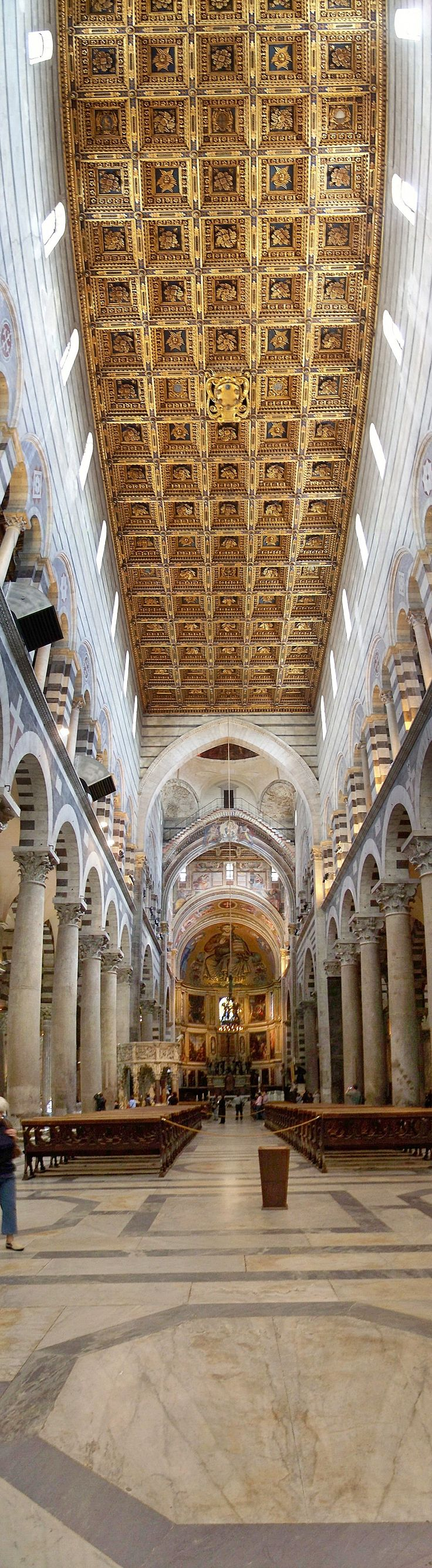 *ITALY ~ Interior of the Duomo di Pisa, a cathedral in Pisa, Tuscany, (by Lofty)
