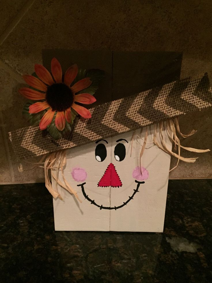 Wood Scarecrow - Fall Decor by LAARC on Etsy https://www.etsy.com/listing/246279779/wood-scarecrow-fall-decor