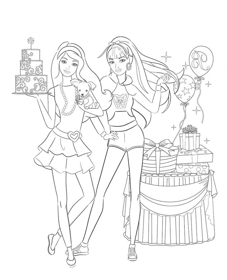 Barbie Doll Birthday Coloring Pages | Kids Coloring Pages ...