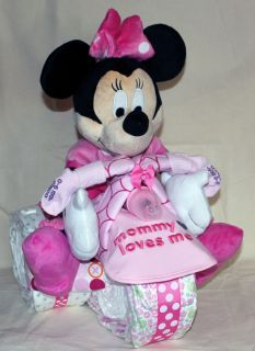 Baby Mickey and Minnie Mouse | Trike MICKEY MOUSE MINNIE MOUSE gift baby shower diaper cake Baby ...