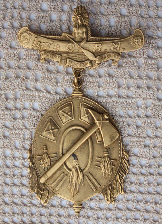 Improved Order of Red Men Fraternal Society by WilburVintage, $40.00