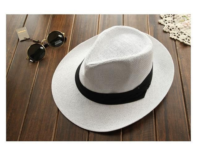 2017 Brand New Panama Hats Man Woman Summer Beach Hat Sombrero de Panama Black White Fashion Caps Chapeu de Praia Verao YY0084