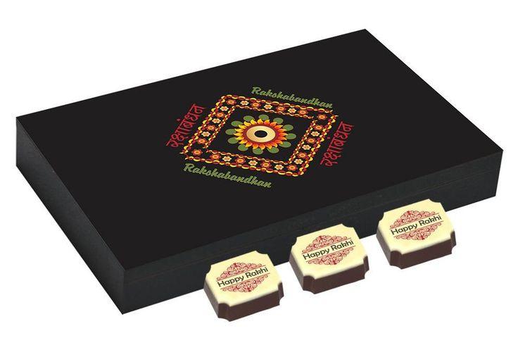 Rakhi gifts for brother - 12 Chocolate Gift Box - Rakhi festival gifts with Rakhi