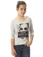 Tee-shirt Offset avec imprimés pour fille