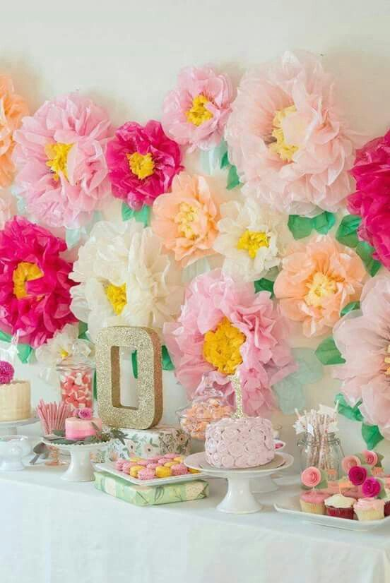 154 best flores images on Pinterest Diy paper flower backdrop